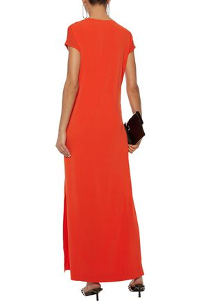 BY MALENE BIRGER Majao tie-front crepe-jersey maxi dress