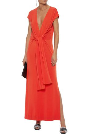 661a1d9b0b6f BY MALENE BIRGER Majao tie-front crepe-jersey maxi dress