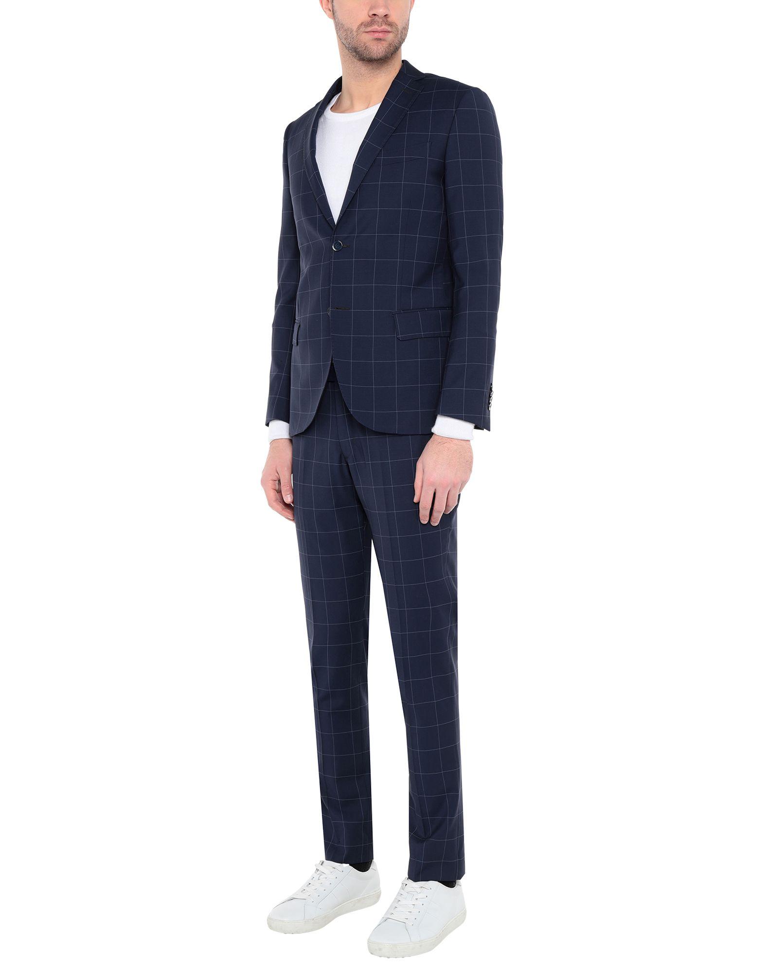 《送料無料》SARTORIA TOSCANA メンズ スーツ ダークブルー 50 ウール 100%