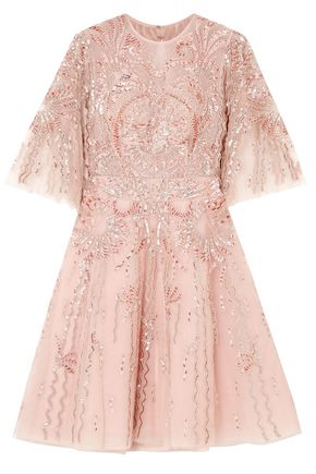 ZUHAIR MURAD Cutout embellished organza mini dress