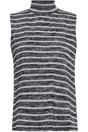 RAG & BONE Cutout striped stretch-jersey top
