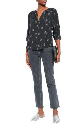 JOIE Yareli printed crepe de chine blouse