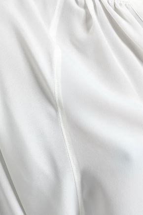 JOIE Yareli gathered crepe de chine blouse
