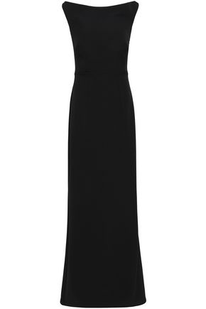 SAFIYAA Cutout velvet and crepe gown