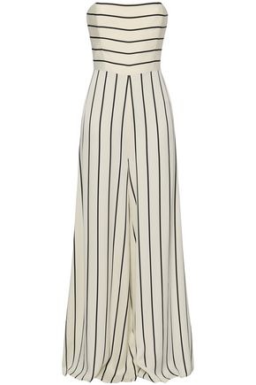 SAFIYAA Strapless striped crepe jumpsuit