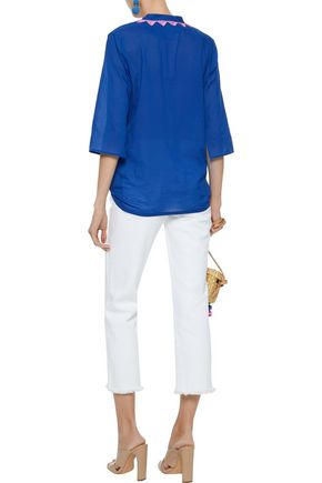 FIGUE Jasmine sequin-embellished cotton-voile tunic