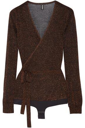 TUXE Metallic knitted bodysuit