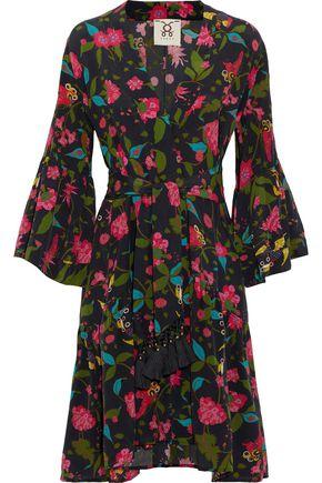 FIGUE Caroline floral-print silk crepe de chine wrap dress