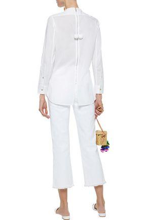 FIGUE Manuela sequin-embellished cotton-voile tunic