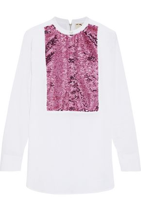 FIGUE Manuela sequin-embellished cotton-voile tunic