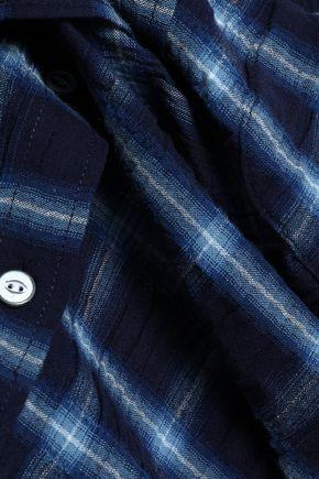 RAG & BONE Checked cotton-blend seersucker shirt