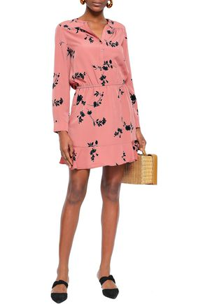 JOIE Acey floral-print washed-crepe mini dress