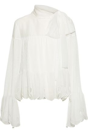 SEE BY CHLOÉ Bow-detailed chiffon top