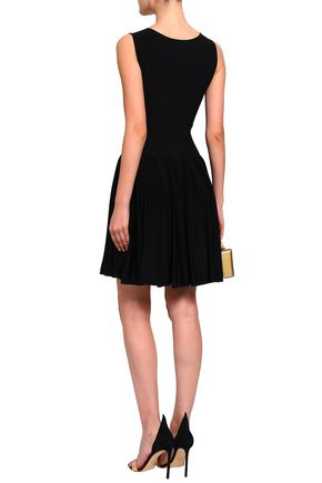 ANTONINO VALENTI Pleated knitted mini dress