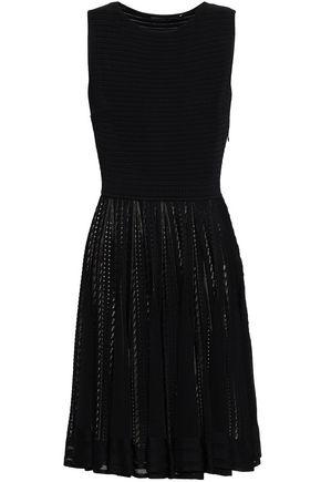 ANTONINO VALENTI Pleated pointelle-knit dress