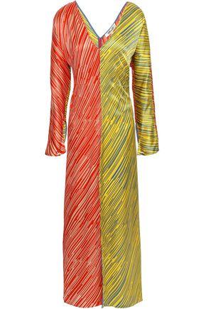 DIANE VON FURSTENBERG Printed silk-satin maxi dress