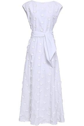 ANTONINO VALENTI Belted fil coupé cotton maxi dress