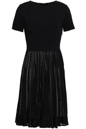 ANTONINO VALENTI Pleated pointelle-knit mini dress