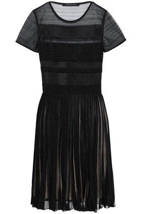 ANTONINO VALENTI Pleated knitted mini dress