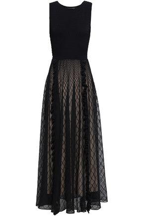 ANTONINO VALENTI Ruffle-trimmed jacquard-knit maxi dress