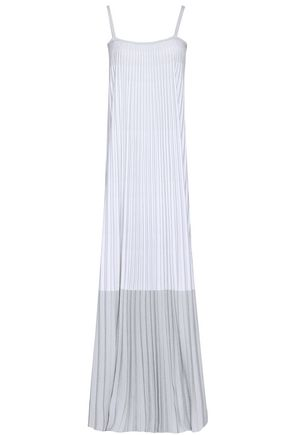 ANTONINO VALENTI Pleated metallic knitted maxi dress