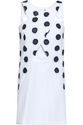 ANTONINO VALENTI Cutout embroidered cotton-blend mini dress