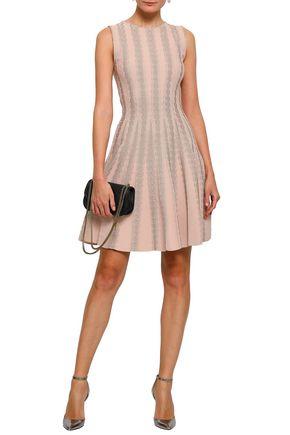 online store 321fe 2b648 Pleated metallic jacquard-knit mini dress   ANTONINO VALENTI ...