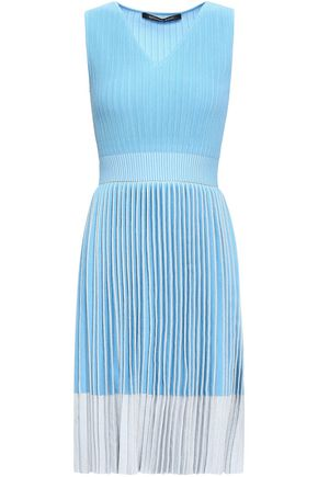 ANTONINO VALENTI Pleated metallic knitted dress