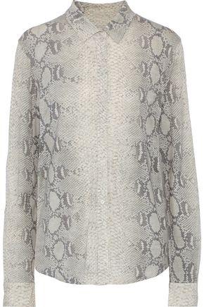 MAJESTIC FILATURES Snake-print silk shirt