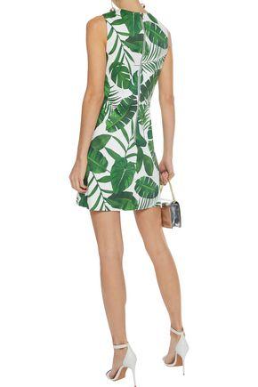 ALICE + OLIVIA Coley printed stretch-cotton mini dress