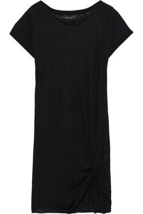 MAJESTIC FILATURES Twisted slub linen-jersey mini dress