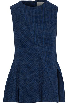 JASON WU Checked wool peplum top