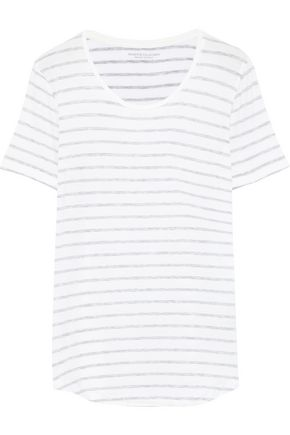 MAJESTIC FILATURES Striped stretch-jersey T-shirt