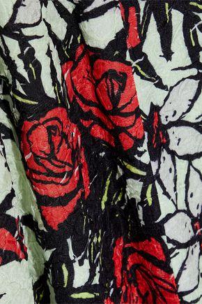 NINA RICCI Floral-print silk-blend cloqué dress