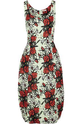 29b3fe43ae NINA RICCI Floral-print silk-blend cloqué dress