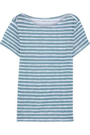MAJESTIC FILATURES Striped slub linen-jersey T-shirt