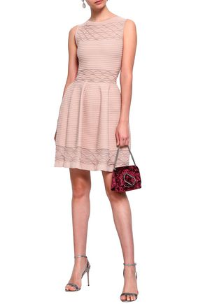 ANTONINO VALENTI Flared knitted mini dress