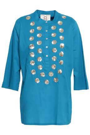 FIGUE Sequin-embellished cotton tunic