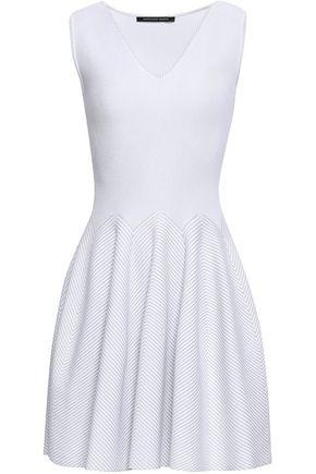 ANTONINO VALENTI Flared metallic jacquard-knit mini dress