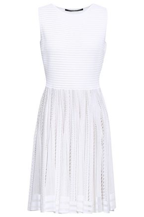 ANTONINO VALENTI Pleated pointelle-knit dress