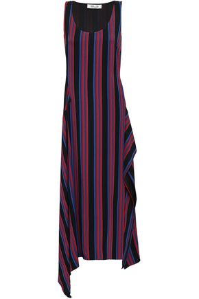 DIANE VON FURSTENBERG Striped twill midi dress