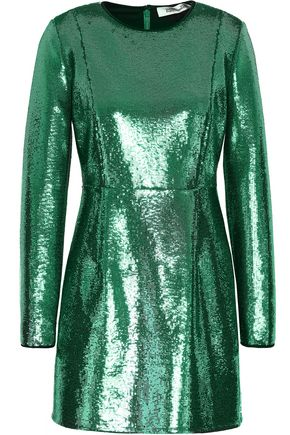DIANE VON FURSTENBERG Sequined woven mini dress