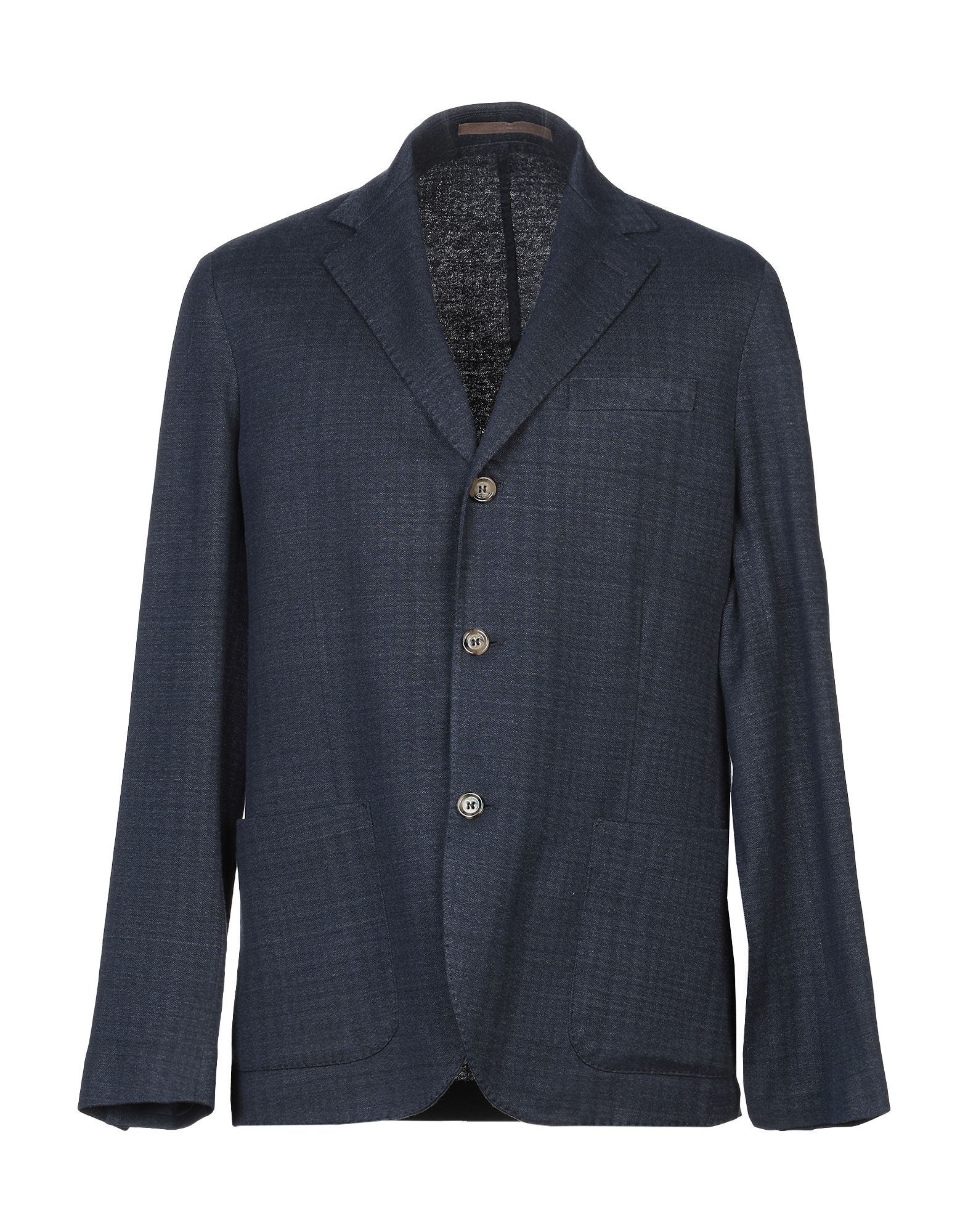 ELEVENTY Suit jackets. piqué, no appliqués, two-tone, multipockets, single chest pocket, two inside pockets, button closing, lapel collar, single-breasted, long sleeves, unlined, dual back vents, single-breasted jacket. 51% Linen, 44% Cotton, 5% Polyamide
