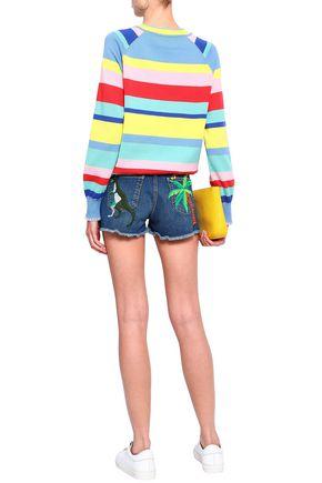 MIRA MIKATI Embroidered denim shorts