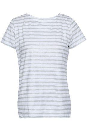 MAJESTIC FILATURES Metallic striped linen-blend T-shirt