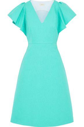DELPOZO Cotton-matelassé dress