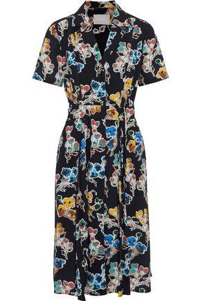 JASON WU Belted printed crepe shirt dress
