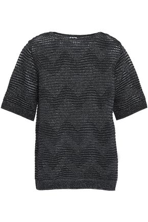 M MISSONI Metallic pointelle-knit top