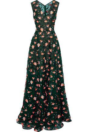 JASON WU Embroidered silk-organza gown
