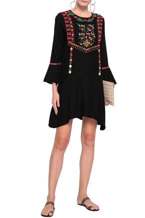 JOIE Embroidered woven mini dress